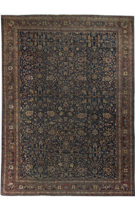 Antique Persian.Kashan Rug Circa 1900