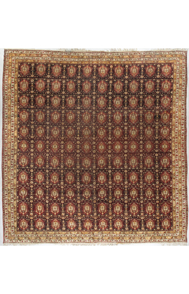 Antique Agra Rug Circa 1880