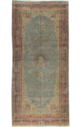 Antique Persian Kirman Rug Circa 1890
