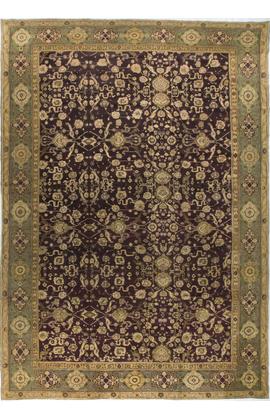 Antique Agra Rug Circa 1890