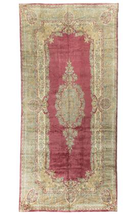 Vintage Persian Kirman Rug Circa 1930.
