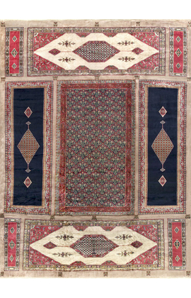 Vintage Turkish.Sampler Rug circa 1940