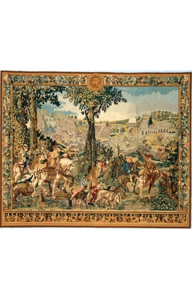 Recreation of a French 17th century hunting scene Tapestry