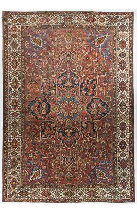 Antique Persian Bakhtiari Rug.Circa 1890