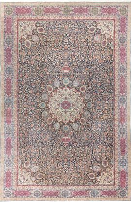 Vintage Fine Persian Tabriz Rug Circa 1920.