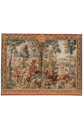Recreation of a French 17th century hunting tapestry.