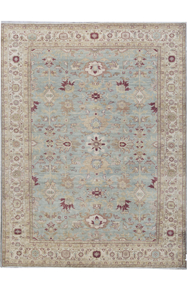 ANTIQUE SULTANABAD SUL-A LIGHT BLUE / IVORY