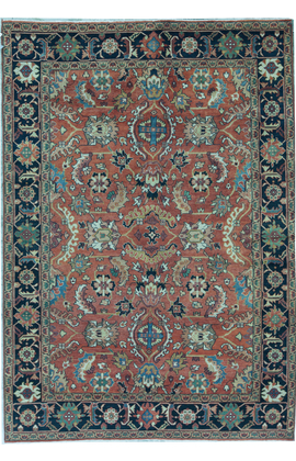 ANTIQUE SULTANABAD MAH42 RED / BLUE