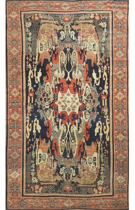 Antique Persian Senneh Rug Circa 1900