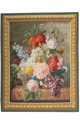 Floral Hand Woven Tapestry