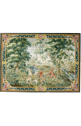 Recreation of a French Hunting Scene Tapestry
