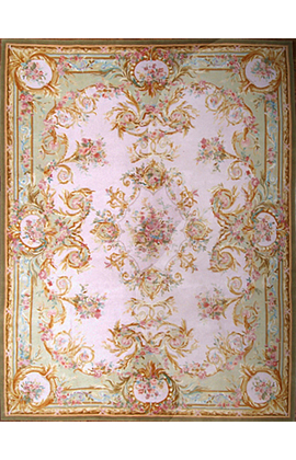 Renaissance Pile Aubusson.Ivory/Green