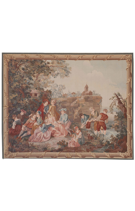 Recreation of an 18th century Gobelin design Tapestry