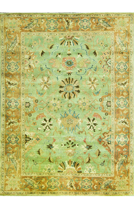 ANTIQUE SULTANABAD CH 7 GREEN / RUST