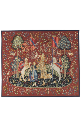 "15th Century Tapestry recreation. ""Taste"" From the Lady with the Unicorn Series"