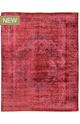 Overdyed Rug Collection Red