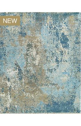 CANVAS ART W /SILK C2363 GREY / BLUE