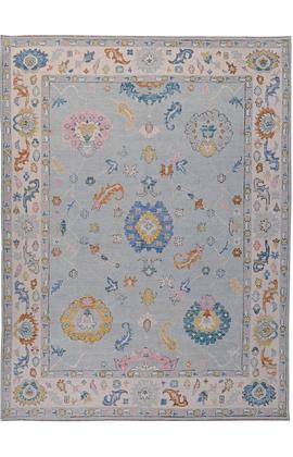BODRUM OUSHAK SC083 BLUE / IVORY