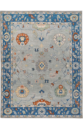 BODRUM OUSHAK SC083 SILVER / BLUE