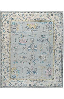 BODRUM OUSHAK SC117 BLUE / IVORY
