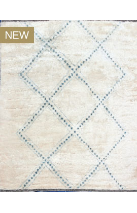 Moroccan Collection TZ171  IVORY  / BLUE