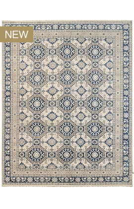 Turkestan Sultan  ivory / blue