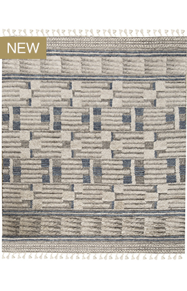 Moroccan Collection 0ZAR TZ601 IVORY BLUE